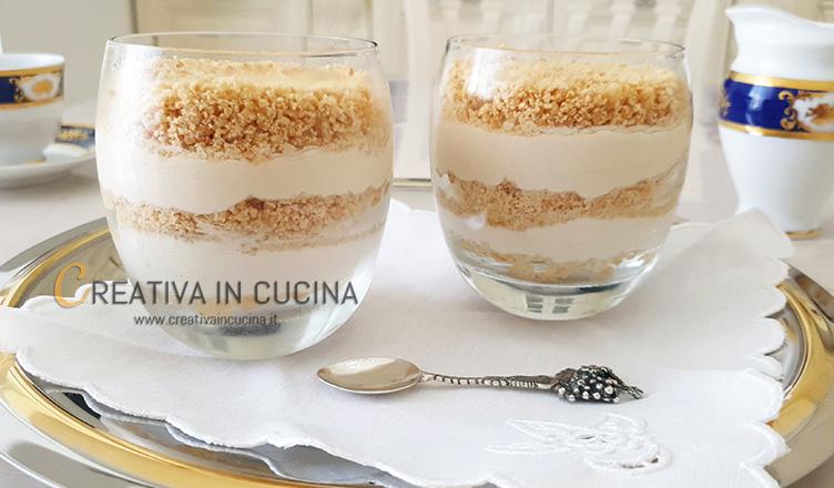 cheesecake yogurt e caffè in bicchiere ricetta di Creativa in cucina