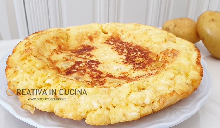 Frittata di patate e ricotta ricetta di Creativa in cucina