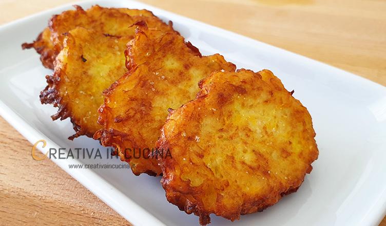 Frittelle di zucchina gialla ricetta di Creativa in cucina