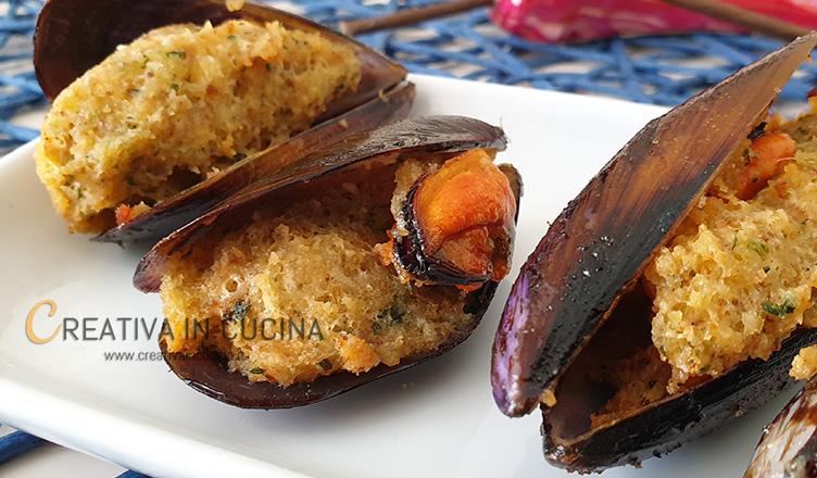 Cozze ripiene e fritte ricetta di Creativa in cucina