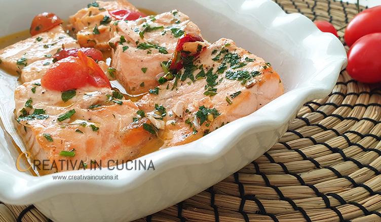 Salmone in umido ricetta di Creativa in cucina