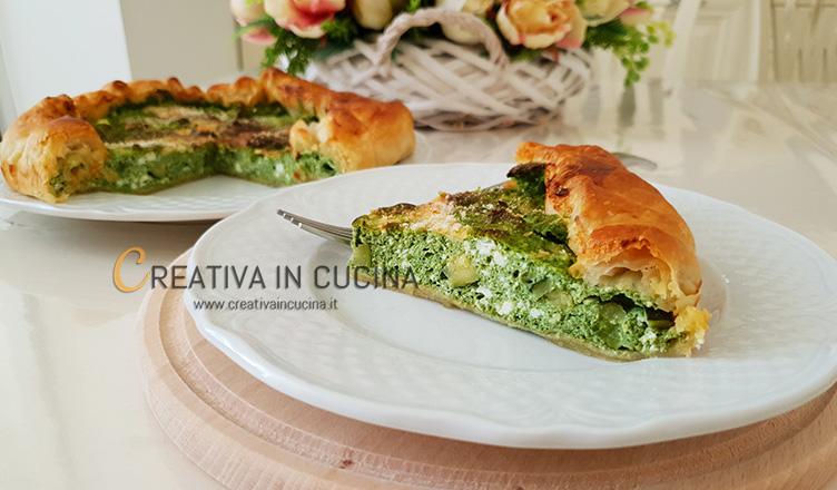 Quiche spinaci e zucchine ricetta di Creativa in cucina