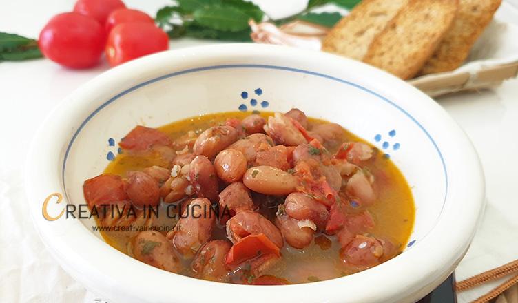 Zuppa di fagioli borlotti ricetta di Creativa in cucina