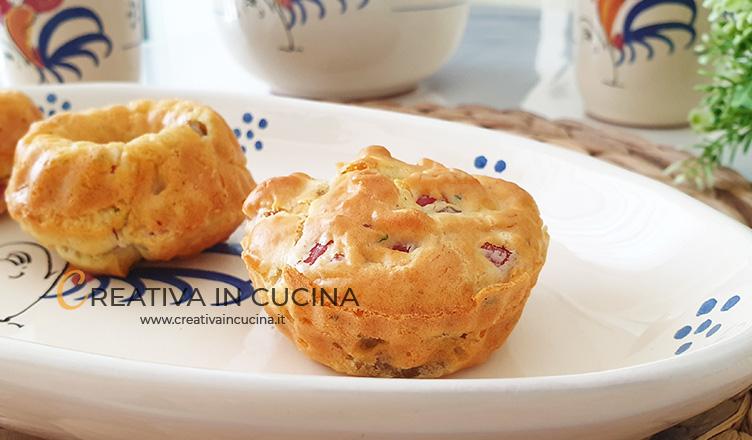 Ciambelline muffin alla boscaiola ricetta di Creativa in cucina