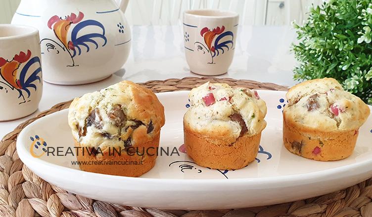 Muffin alla boscaiola ricetta di Creativa in cucina