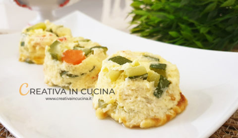 Tortini di verdure e mascarpone