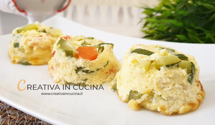 Tortini di verdure e mascarpone ricetta di Creativa in cucina