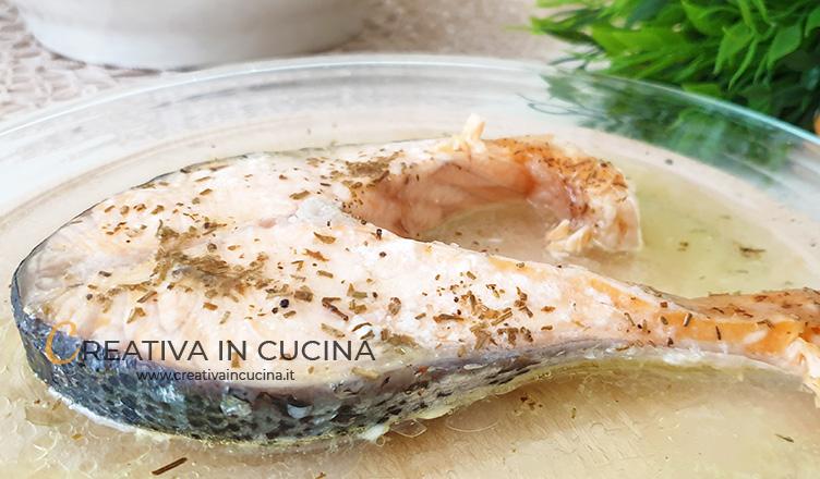 Salmone marinato in forno
