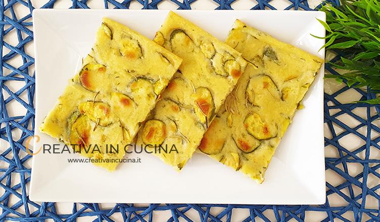 Schiacciata di zucchine ricetta di Creativa in cucina