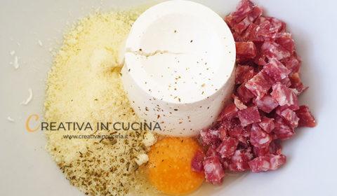 Torta salata con ricotta e salame ricetta di Creativa in cucina