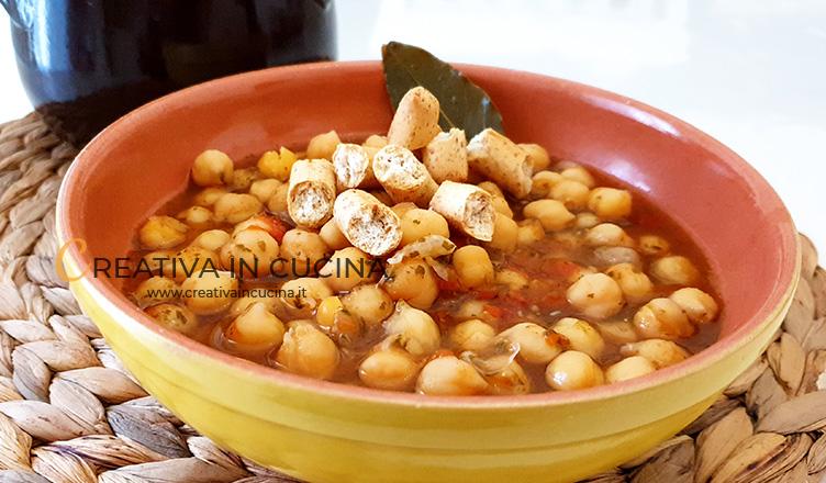 Zuppa di ceci, ricetta semplice ricetta di Creativa in cucina