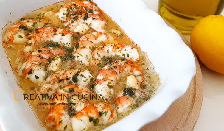 Gamberi al forno alla mediterranea ricetta di Creativa in cucina