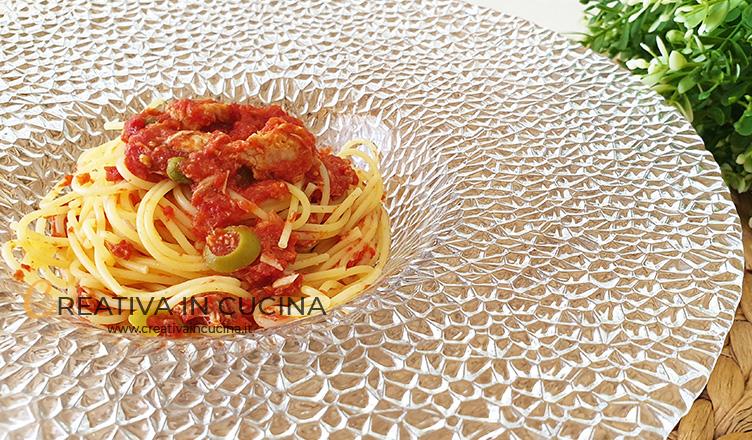 Spaghetti con tonno e olive ricetta di Creativa in cucina