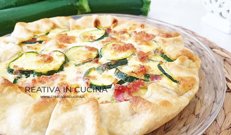 Torta salata zucchine e prosciutto ricetta di Creativa in cucina