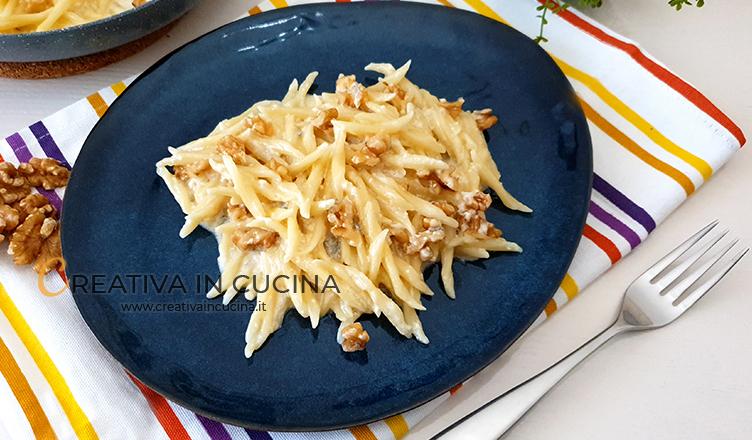 Trofie gorgonzola e noci