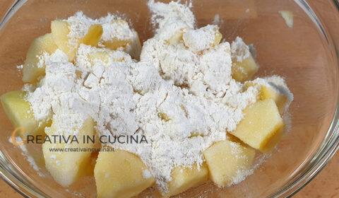 Focaccia dolce alle mele e cioccolato ricetta di Creativa in cucina