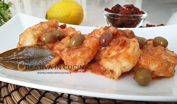 Rana pescatrice al limone e pomodori secchi ricetta di Creativa in cucina
