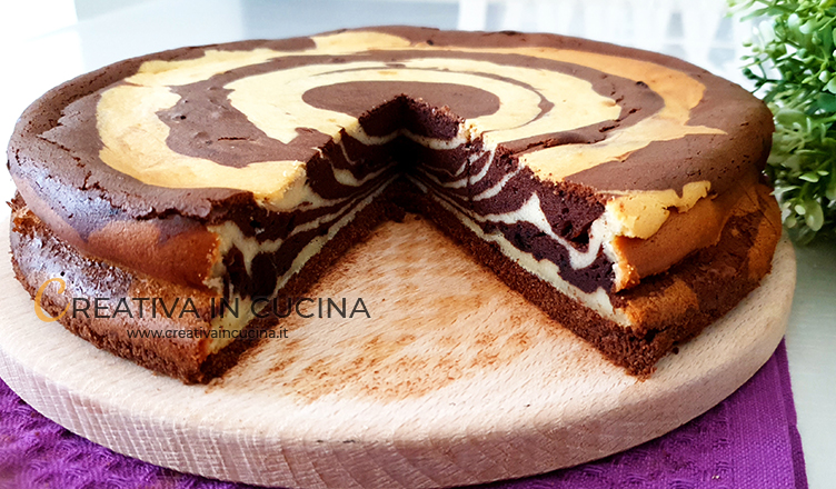 Cheesecake bicolore