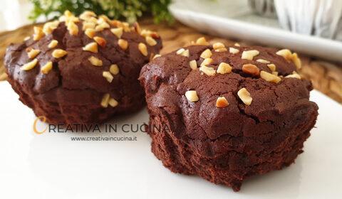 Muffin al cioccolato senza lievito e farina