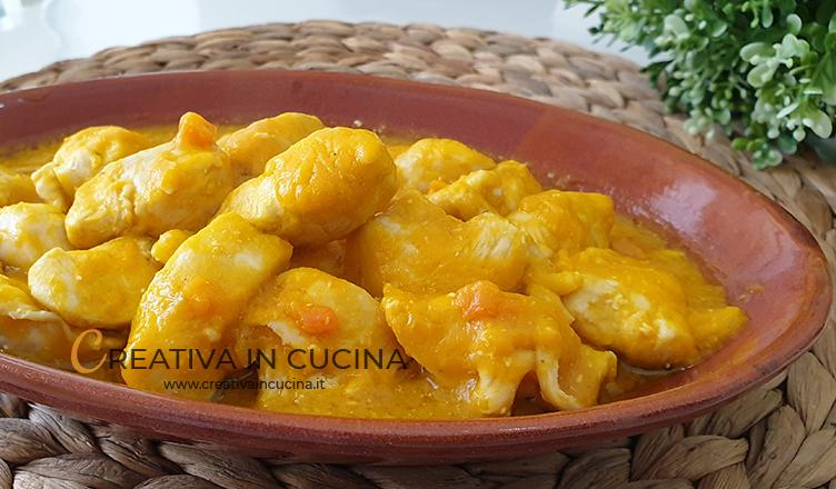 Bocconcini di pollo con vellutata di zucca