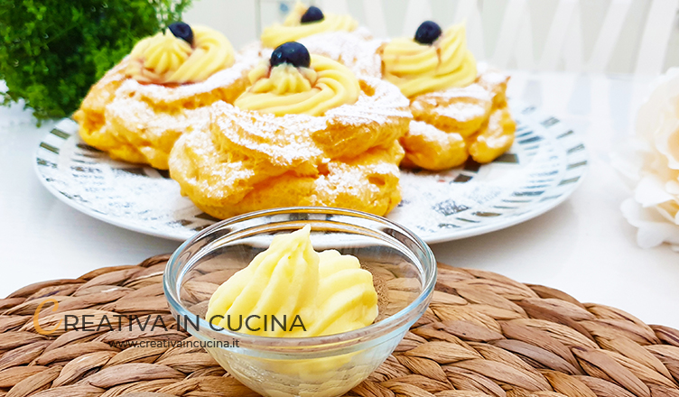 Le mie 2 varianti di crema pasticcera per zeppole di San Giuseppe