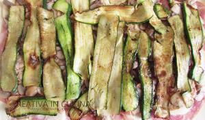 Girelle caserecce all'ortolana zucchine Creativaincucina